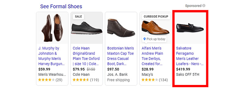 Formal Shoes Shopping ads