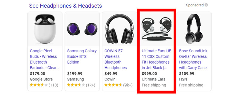 headphones and headsets shopping ads