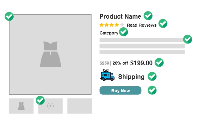 product detail page attributes for product experience management